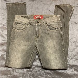 Levi's 512 skinny jeans 12R 26 26.5 gray